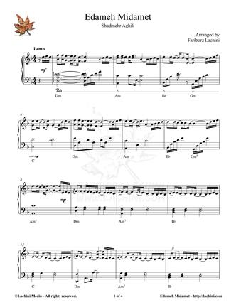 Edameh Midamet Sheet Music