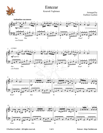 Entezar Sheet Music