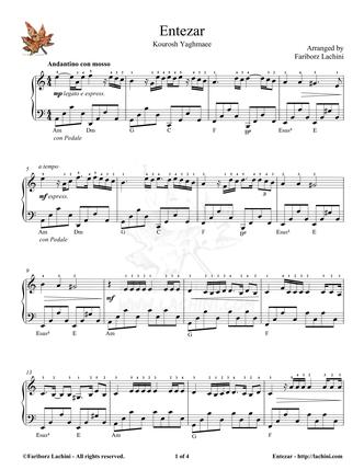 Entezar 2 Sheet Music