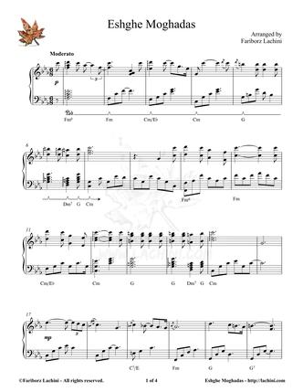 Eshghe Moghadas Sheet Music