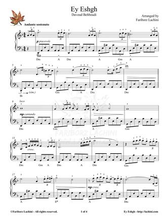 Ey Eshgh Sheet Music