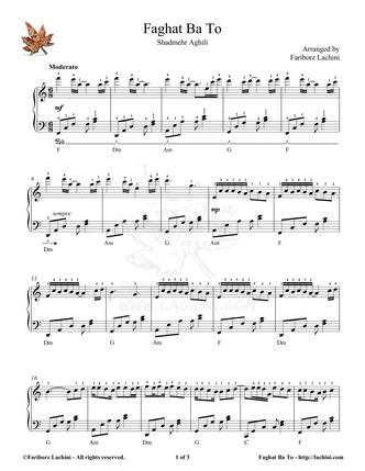 Faghat Ba To Sheet Music