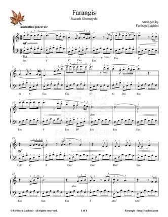 Farangis Sheet Music