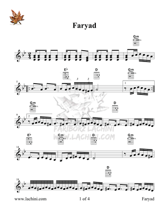 Faryad Sheet Music