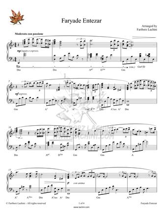 Faryade Entezar Sheet Music