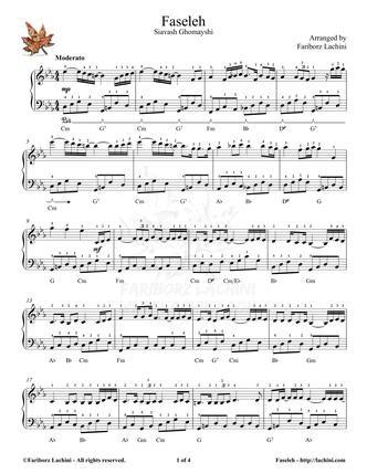 Faseleh Sheet Music