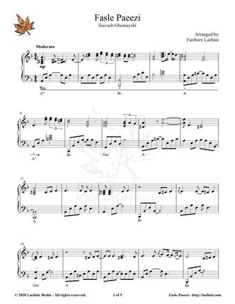 Fasle Paeezi Sheet Music