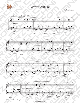 Forever Autumn Sheet Music