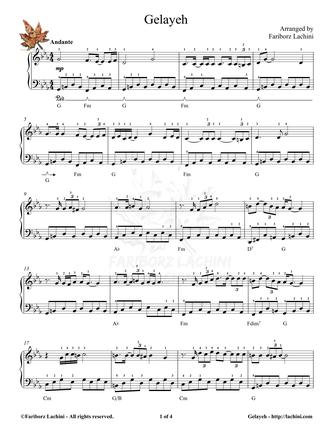 Gelayeh Sheet Music