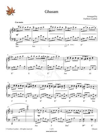 Ghasam Sheet Music