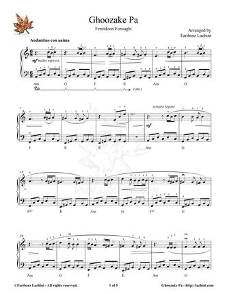 Ghoozake Pa Sheet Music