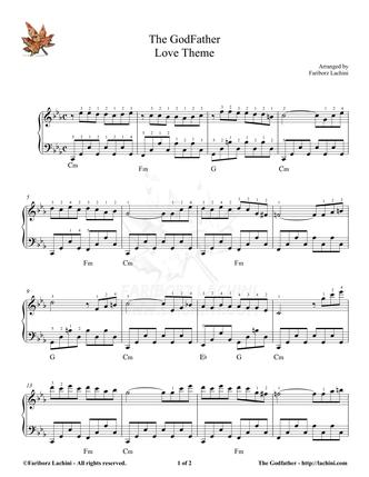 godfather theme piano sheet music pdf