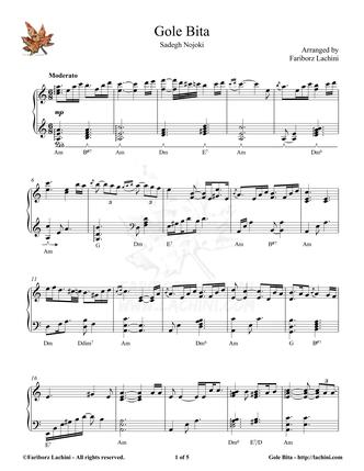 Gole Bita Sheet Music