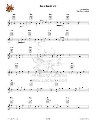 Gole Gandom Sheet Music