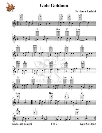Gole Goldoon Sheet Music