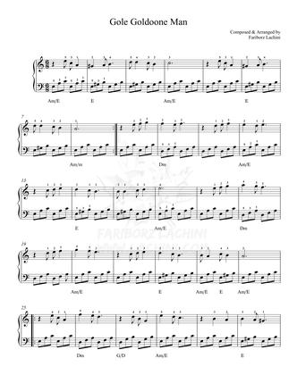 Gole Goldoone Man Sheet Music