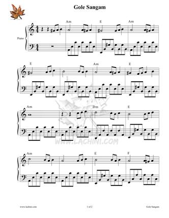 Gole Sangam 2 Sheet Music