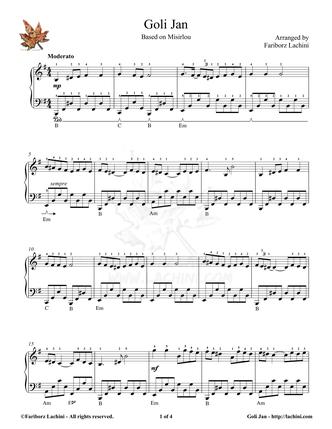 Goli Jan Sheet Music