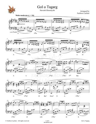 Golo Tagarg Sheet Music
