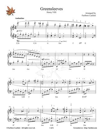 Greensleeves 2 Sheet Music