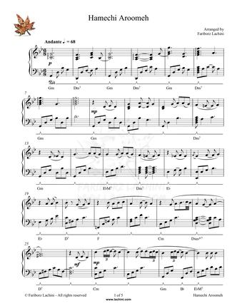 Hamechi Aroomeh Sheet Music