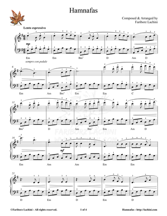 Hamnafas Sheet Music