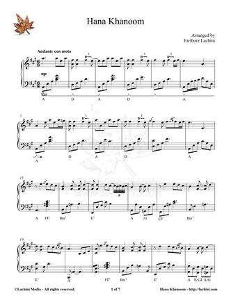 Hana Khanoom Sheet Music