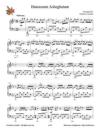 Hanoozam Asheghetam Sheet Music