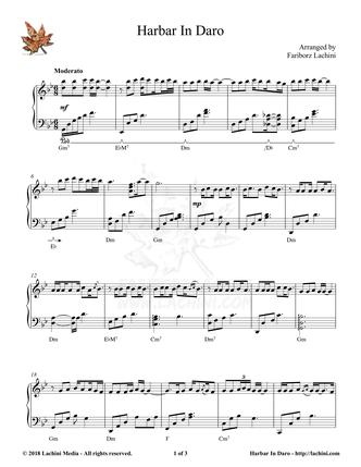 Harbar In Daro Sheet Music