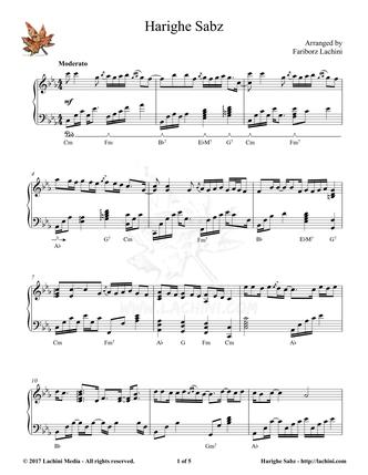 Harighe Sabz Sheet Music