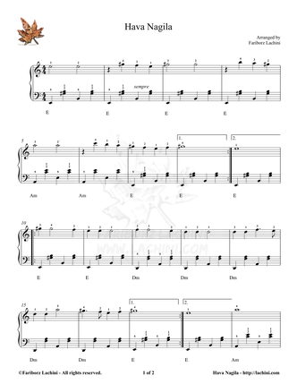 Hava Nagila Sheet Music