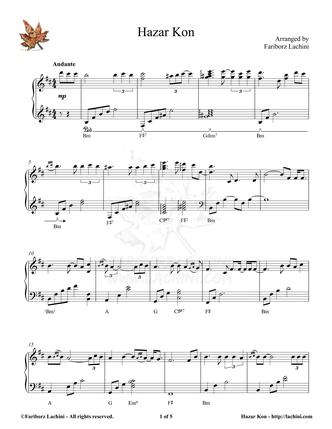 Hazar Kon Sheet Music