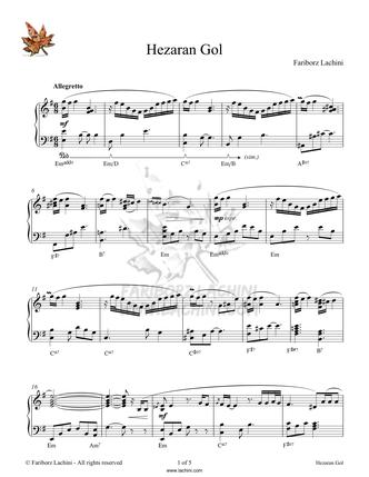 Hezaran Gol Sheet Music