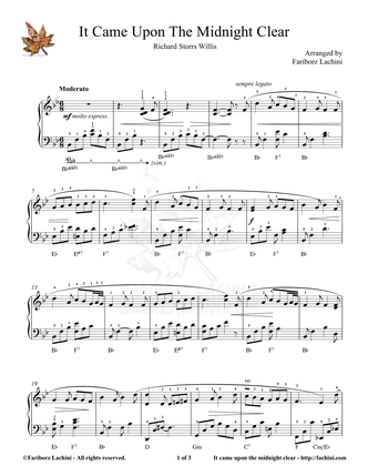 It Came Upon the Midnight Clear Sheet Music
