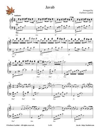 Javab Sheet Music