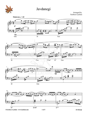 Javdanegi Sheet Music