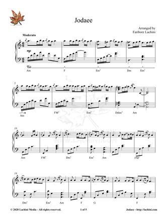 Jodaee Sheet Music