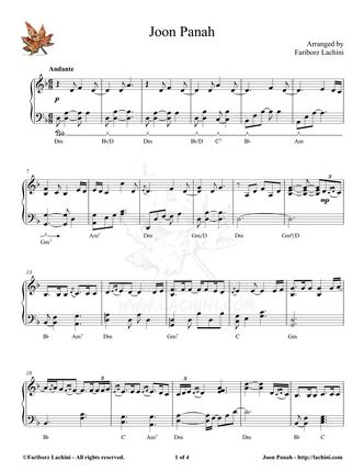 Joon Panah Sheet Music