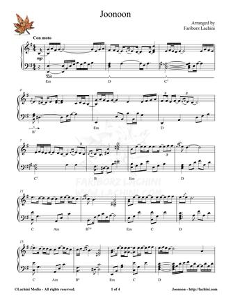 Joonoon Sheet Music