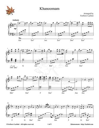 Khanoomam Sheet Music