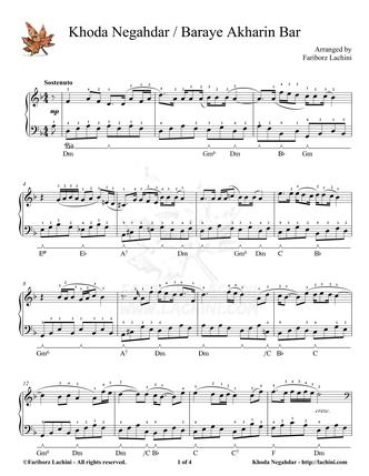 Khoda Negahdar Sheet Music