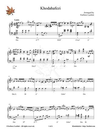 Khodahafezi Sheet Music