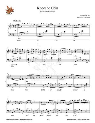 Khooshe Chin Sheet Music