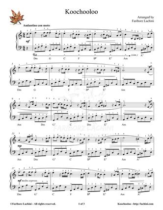 Koochooloo Sheet Music