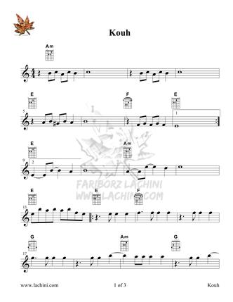 Kouh Sheet Music