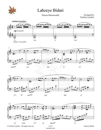 Lahzeye Bidari Sheet Music