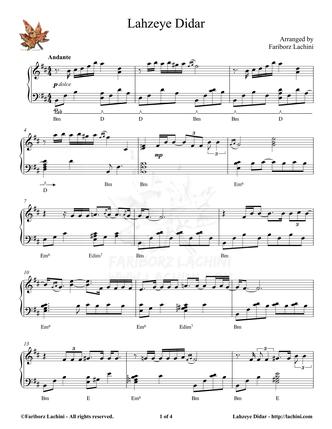 Lahzeye Didar Sheet Music