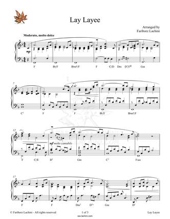 Lay Layee Sheet Music