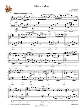 Madare Man Sheet Music
