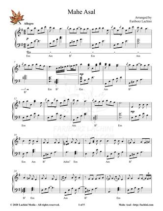 Mahe Asal Sheet Music